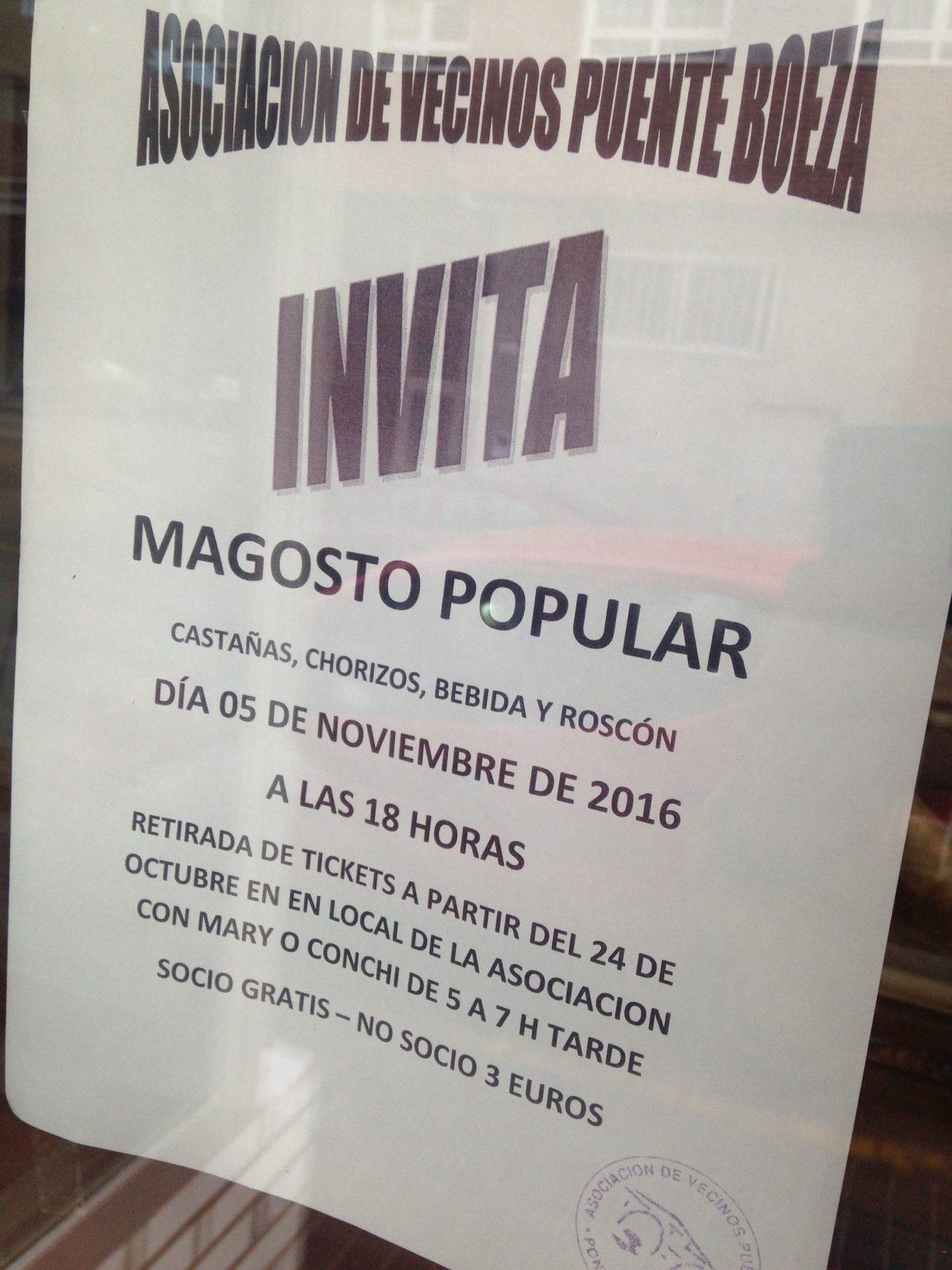 EL barrio de Puente Boeza organiza su magosto popular para el 5 de noviembre 1