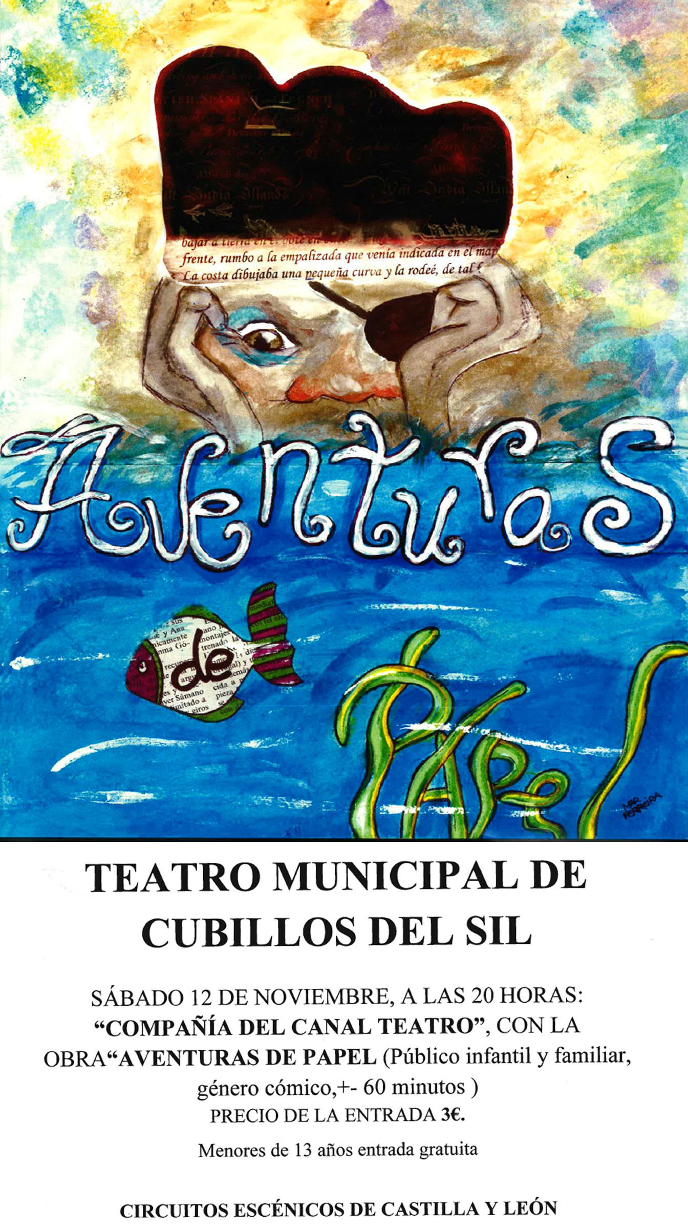 Teatro para el sábado en Cubillos del Sil: Aventuras de papel 1