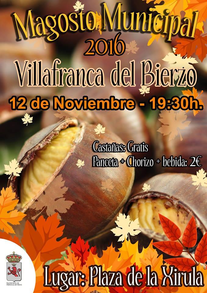 Magosto popular en Villafranca del Bierzo. Sábado 12 de noviembre 1