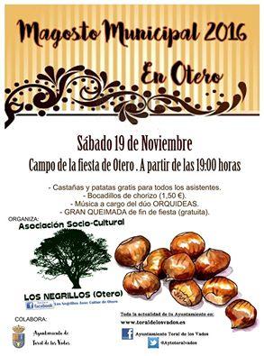 Magosto en Otero (Toral de los Vados). Sábado 13 de noviembre 1