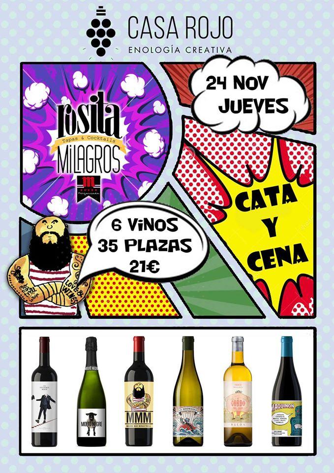 Cata de vinos Casa Rojo en Rosita Milagros. 24 de noviembre 1