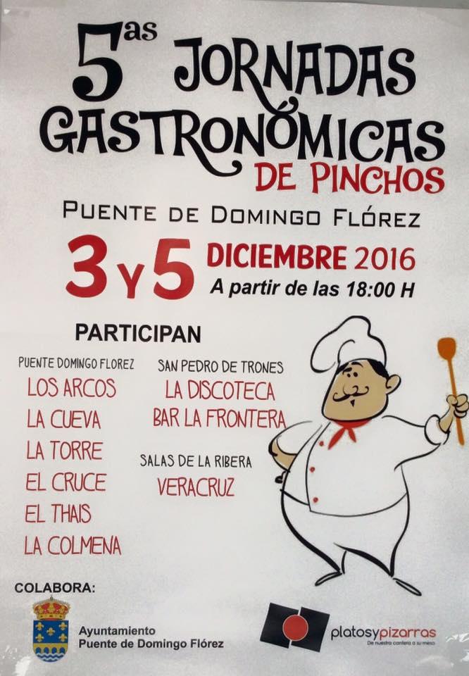V Jornadas gastronómicas de pinchos en Puente de Domingo Flórez. 3 y 5 de diciembre 1