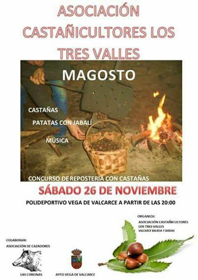 Jabalí, patatas y castañas. Magosto en Vega de Valcarce. Sábado 26 de noviembre 1