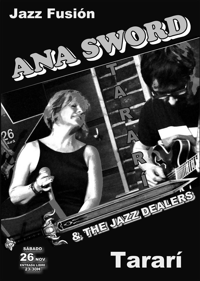 ANA SWORD & the JAZZ Dealers en Concierto en La sala Tararí 1