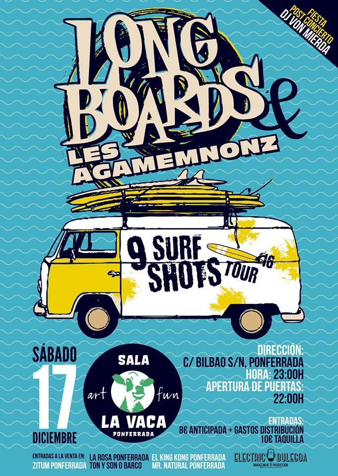 Longboards & Les Agamemnonz en Sala La Vaca. 17 de diciembre 1