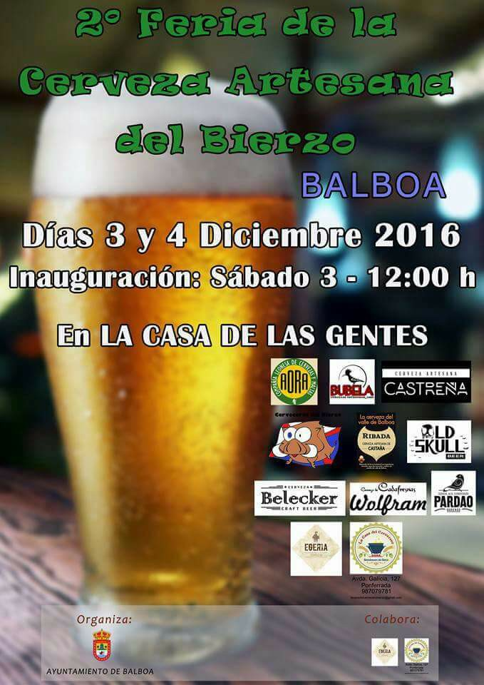Balboa celebra el fin de semana la 2ª Feria de cervezas artesanas 1