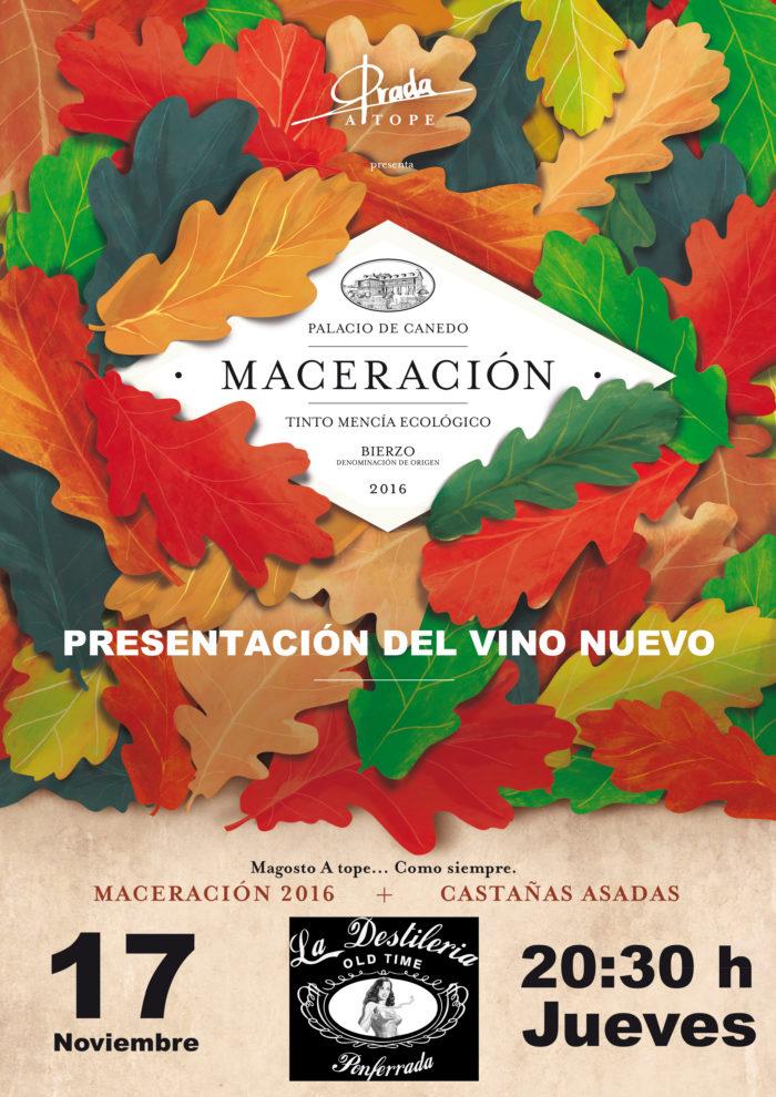 Fiesta presentación del maceración 2016 de Prada a tope, Jueves 17 de noviembre 1