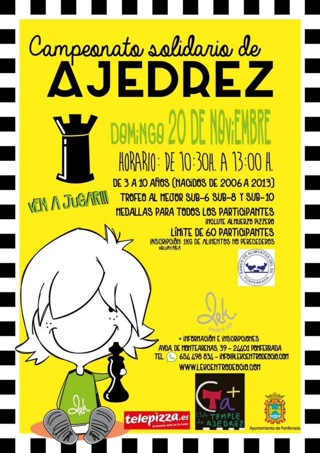 Campeonato solidario de Ajedrez 2016 en Ponferrada 1