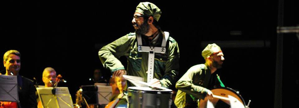 'Vaya Banda' Un espectáculo que une la percusión con la banda de música el fin de semana en el Teatro Bergidum 1