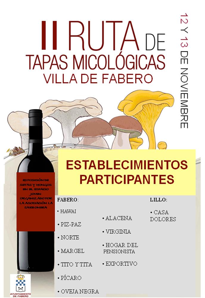 II Ruta de tapas micológicas Villa de Fabero 1