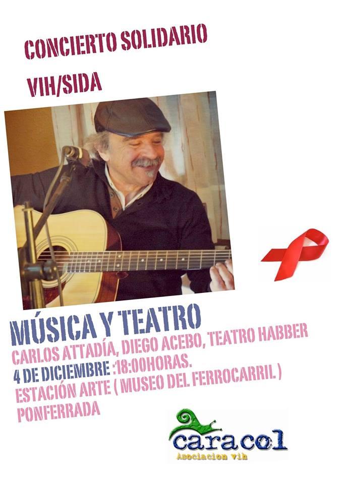 Concierto de Carlos Attadia a beneficio de la asociación Caracol VIH 1