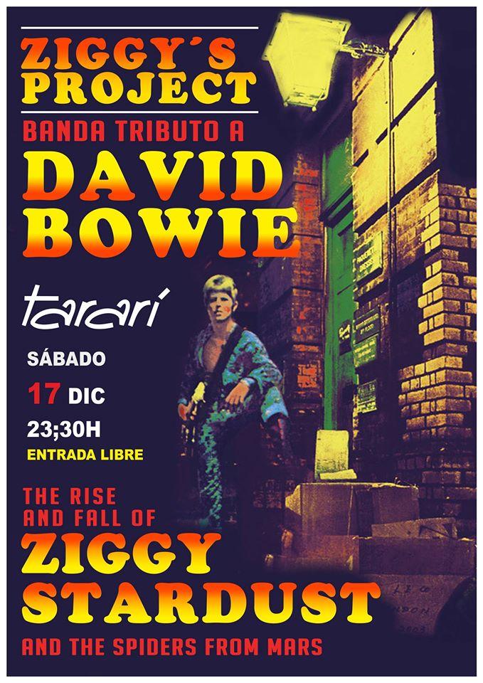 El alma de Bowie sonará el sábado en el Tararí con Ziggy´s Project DAVID BOWIE Tributo 1