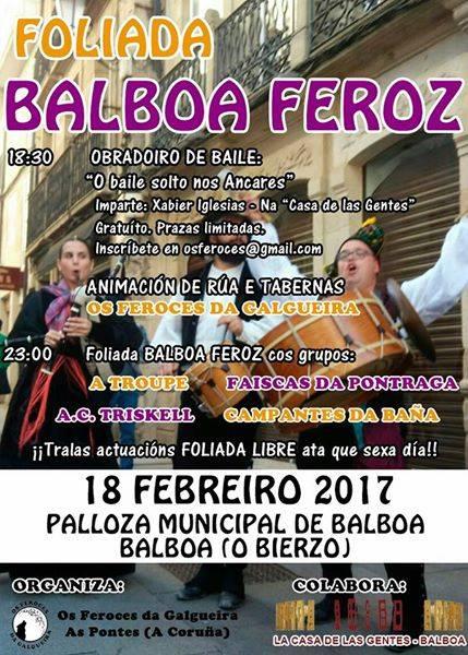Balboa se llena de música tradicional con la '4ª Foliada Balboa Feroz' 1