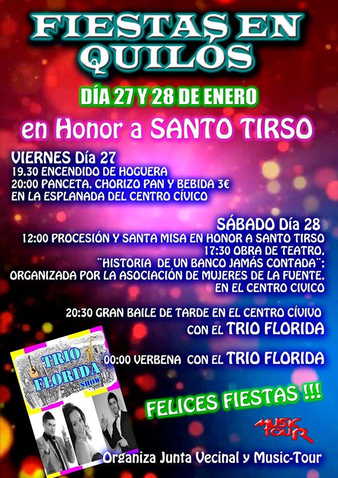Fiestas en honor a Santo Tirso en Quilós 1