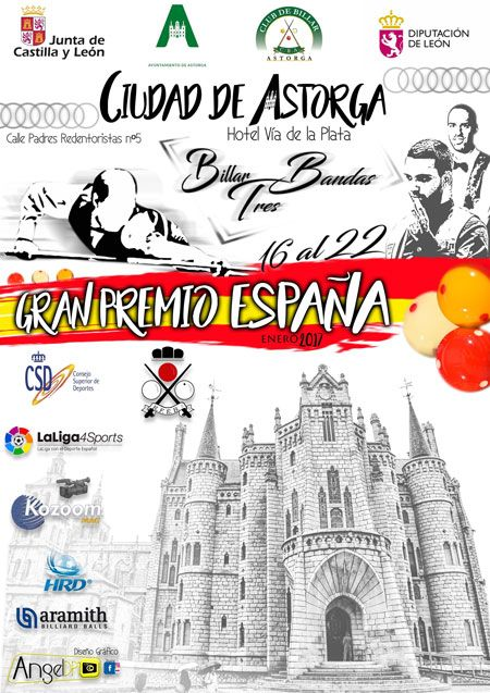 Astorga acoger el Gran Premio Nacional de Billar del 16 al 22 de enero 5