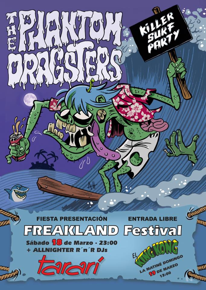 Fiesta presentación del Freakland Festival con Phamton Dragster en Concierto 1