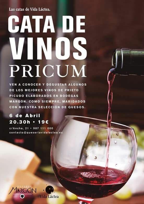 Cata de vinos Pricum con quesos artesanos en La vida Láctea 2