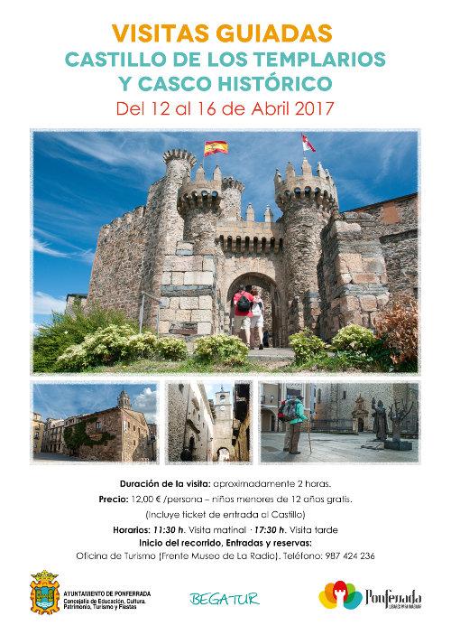 Visitas guiadas Castillo de los Templarios y Casco Histórico. Semana Santa 2017 1
