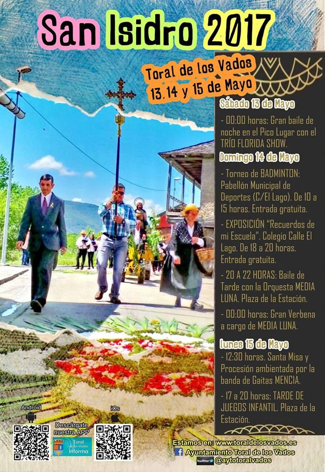 Fiestas en honor a San Isidro 2017 en Toral de los Vados 1