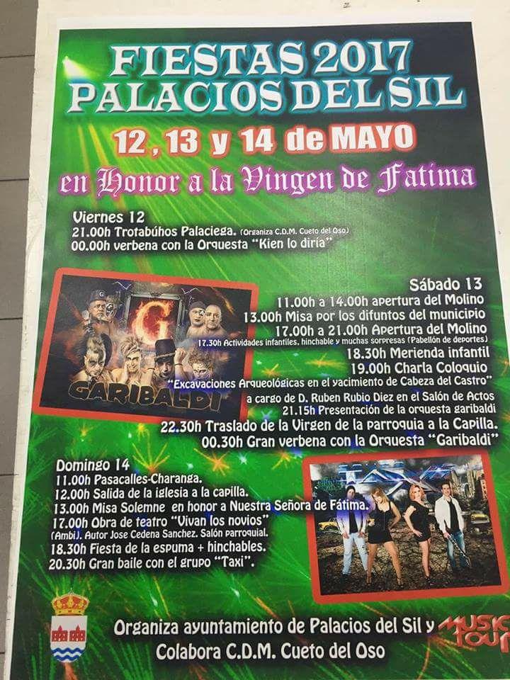 Grandes fiestas en honor a la virgen de Fátima 2017 en Palacios del Sil 1