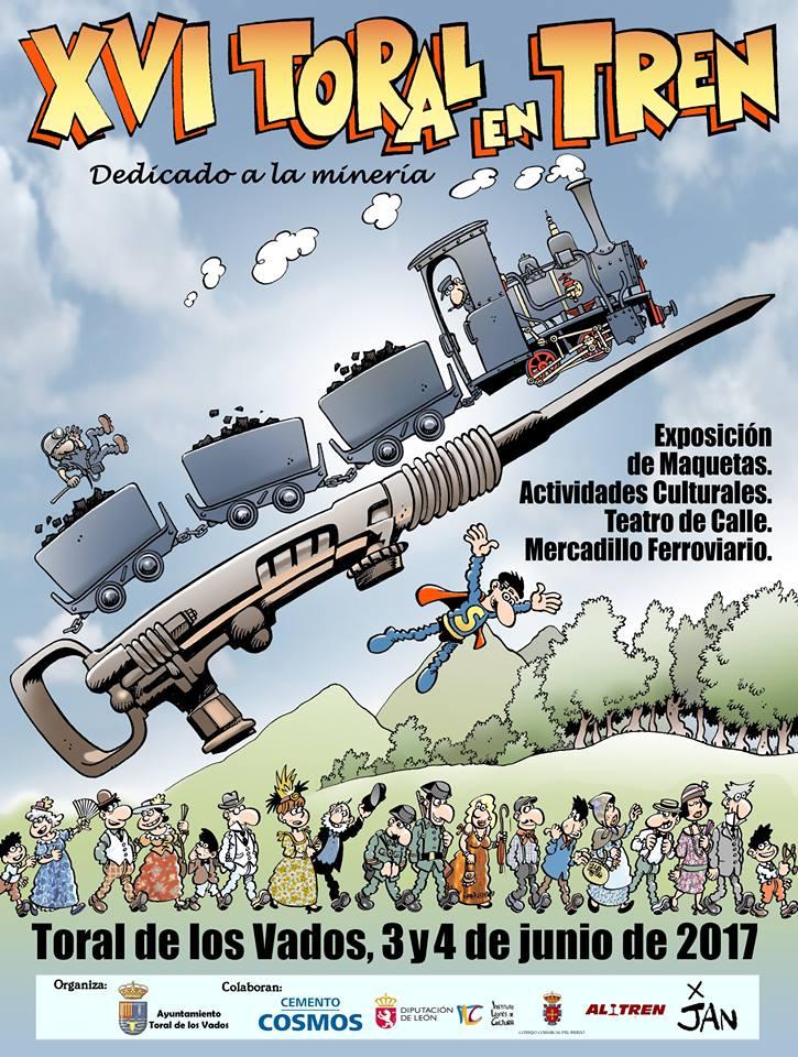 La XVI Edición de Toral en tren se celebra los días 3 y 4 de junio 1