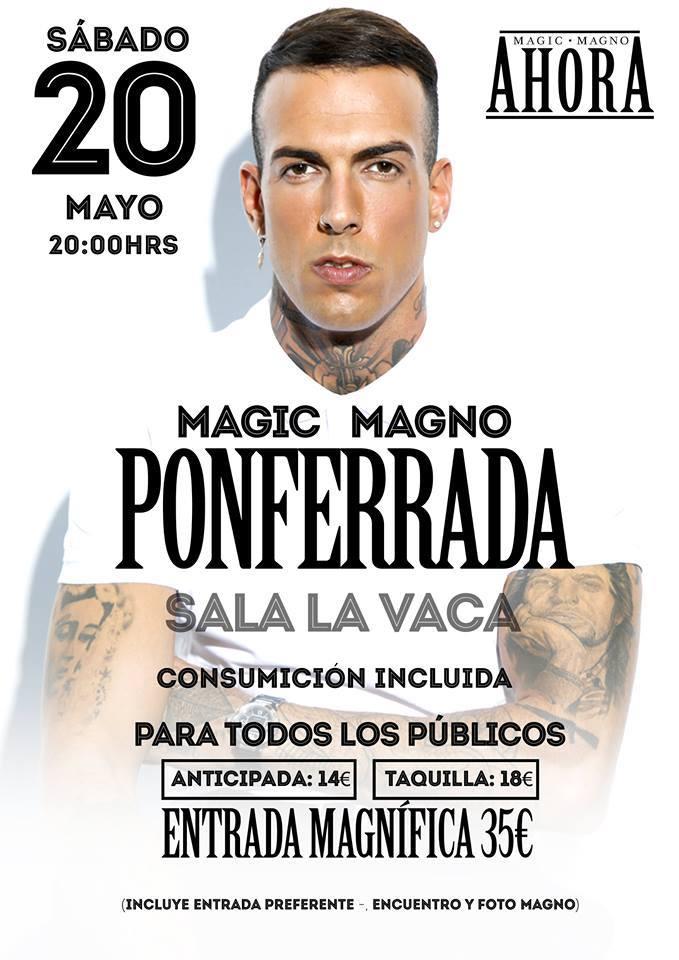 'Magic Magno' presenta su segundo álbum en Ponferrada 1