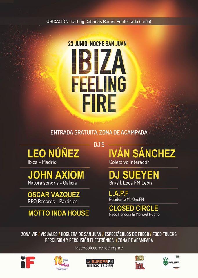 Ibiza Feeling Fire, un festival que abrirá el verano berciano durante la noche de San Juan 1
