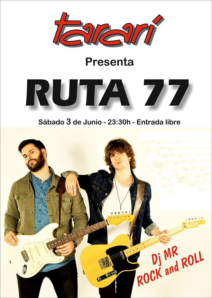 Los gallegos Ruta 77 llenarán de rock la Sala Tararí 1