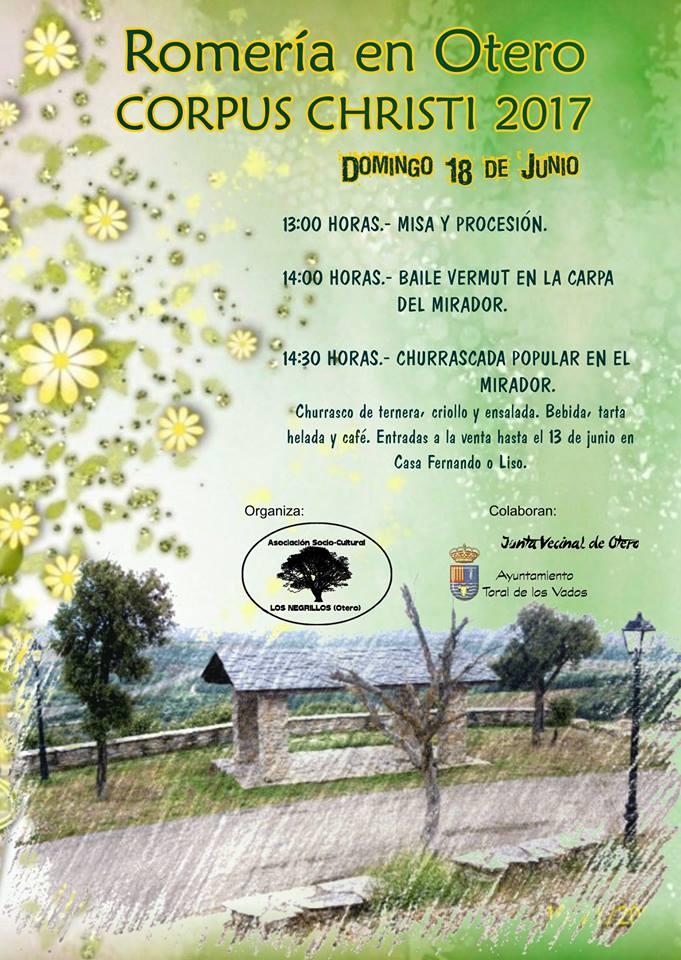 Romería de Corpus Christi 2017 en Otero de Toral de los Vados 1