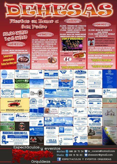 Grandes fiestas 2017 en Dehesas en honor a San Pedro 1