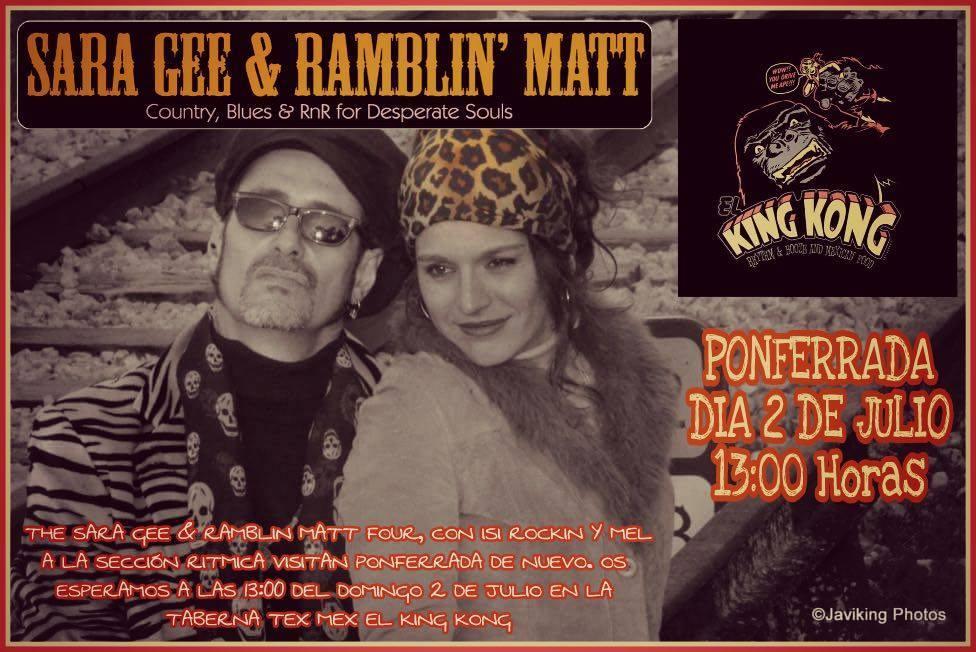 Sara Gee & Ramblin' Matt traen el mejor blues a la matineé de el King Kong 1