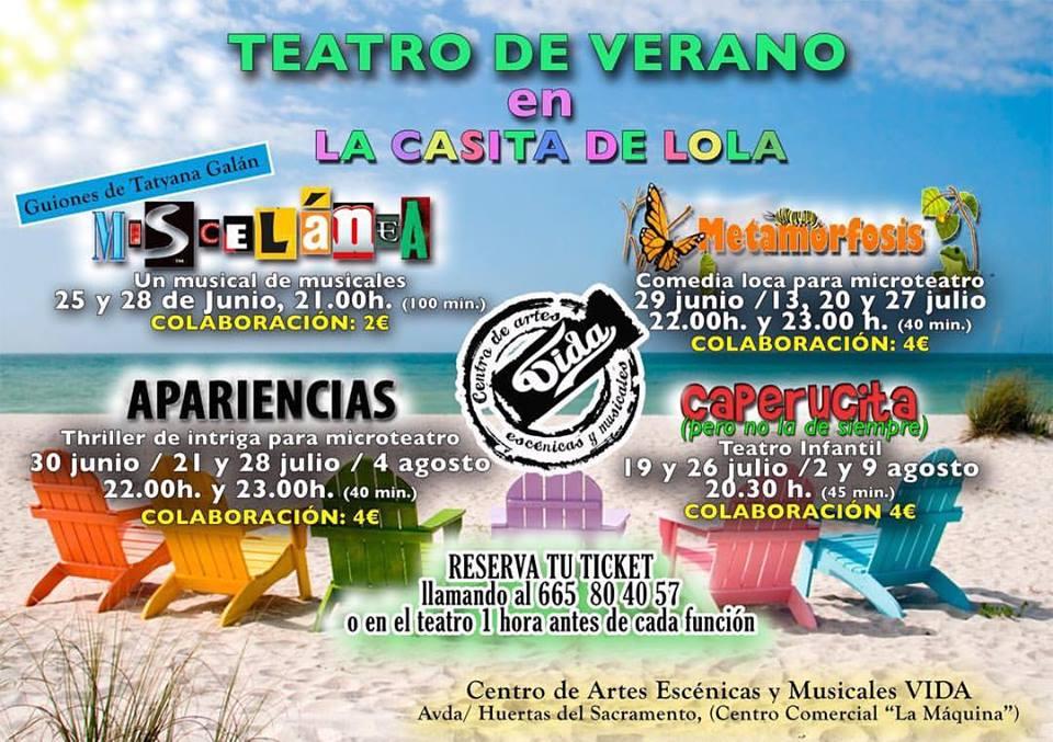 El Centro de Artes Escénicas VIDA organiza funciones de teatro a lo largo del verano 1