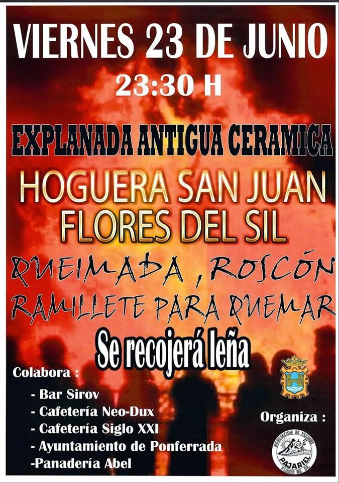 Hoguera de San Juan 2017 en el barrio de Flores del Sil 1