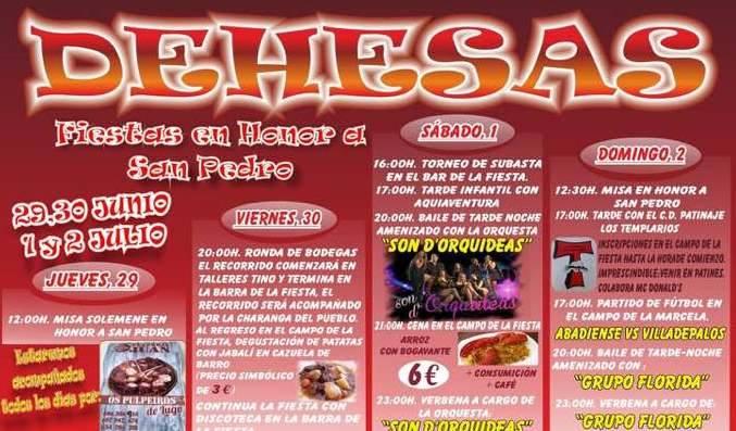Fiestas en honor a San pedro 2017 en Dehesas 1