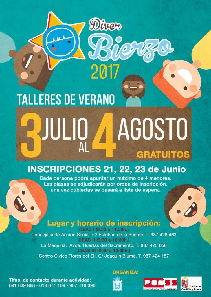 Diver Bierzo: Talleres de verano gratuitos para niños en Ponferrada 1