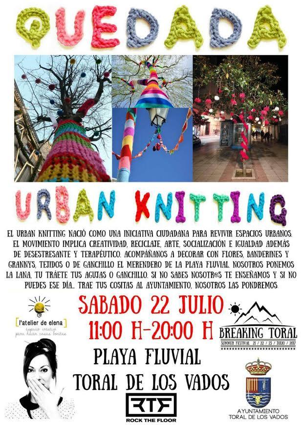 Quedada Urban Knitting en Toral de los Vados 1