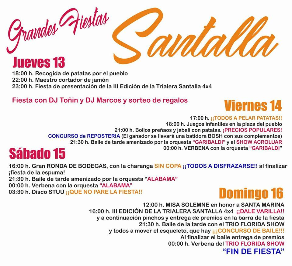 Grandes fiestas en Santalla del Bierzo 2017 en honor a Santa Marina 1