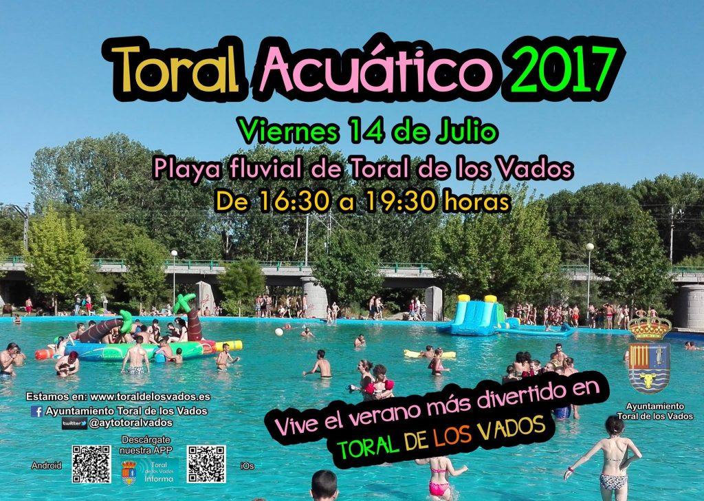 Toral de los Vados organiza el viernes 'Toral Acuático 2017' Diversión para los más pequeños 1