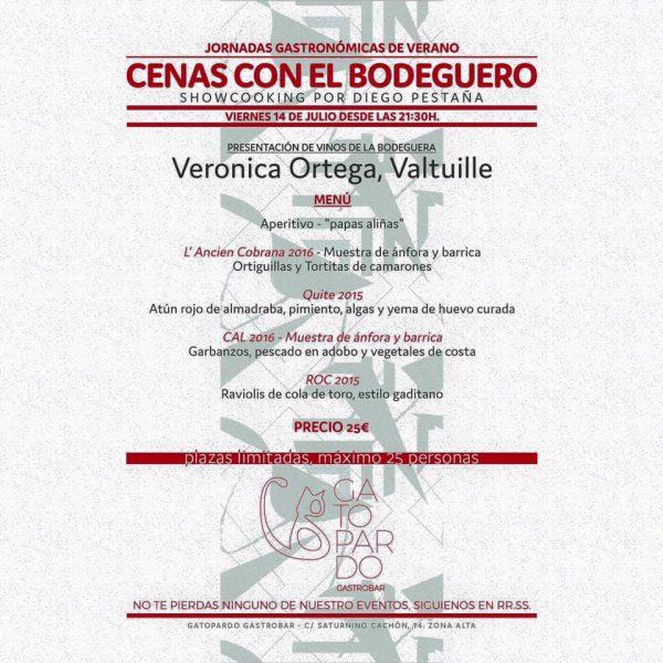 - AFORO COMPLETO´- Showcooking de Diego Pestaña y vinos de Verónica Ortega en la terraza del Gatopardo 1