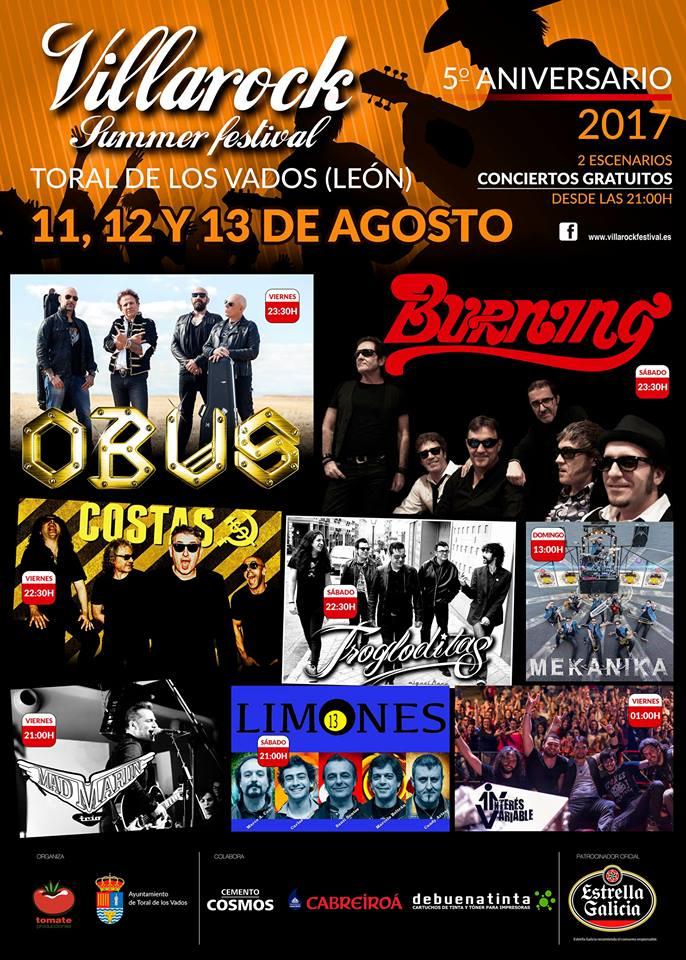 Grandes leyendas en el Villarock Summer Festival 2017 1