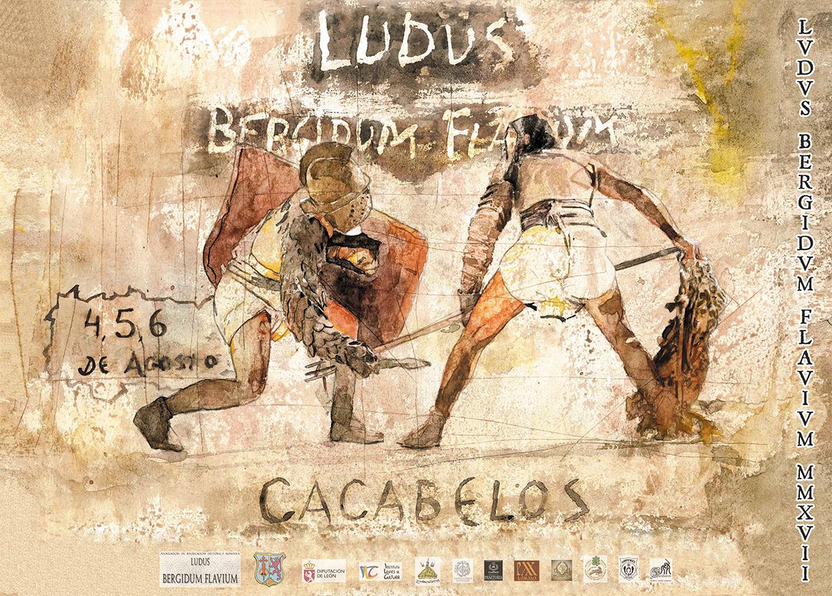 La Ludus Bergidum Flavium reencontrará a los cacabelenses con su pasado romano. 4, 5 y 6 de agosto de 2017 1