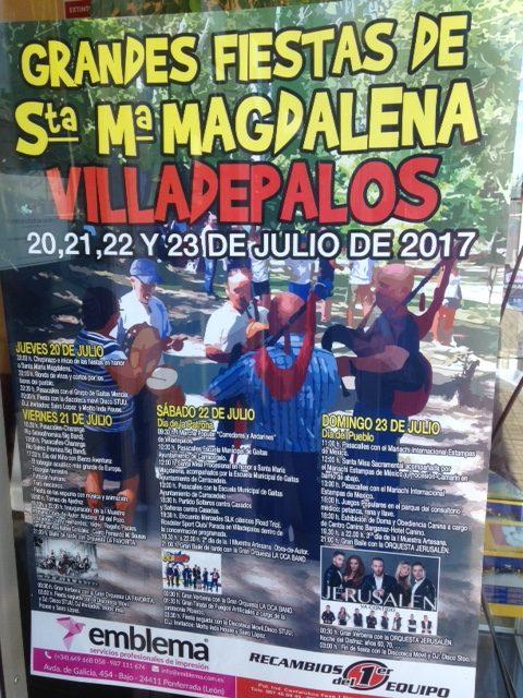 Grandes fiestas de la Magdalena 2017 en Villadepalos 1