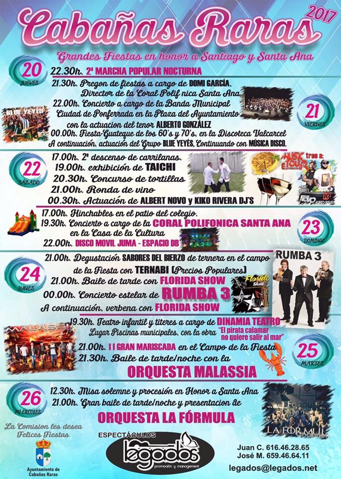 Kiko Rivera y Rumba Tres, actuaciones estrella de las fiestas Cabañas Raras 2017 -Programa Completo- 1