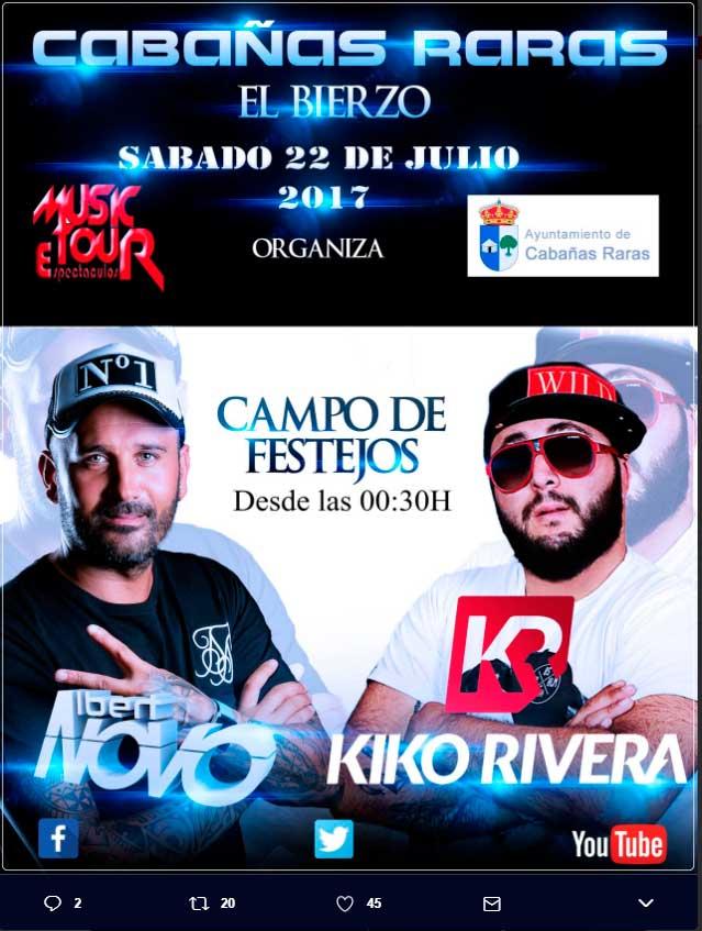 Kiko Rivera en las fiestas de Cabañas Raras 2017 1