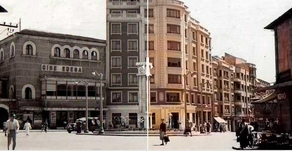 Fotografías de Ponferrada en blanco y negro coloreadas digitalmente muestran la ciudad como no la habías visto antes 1