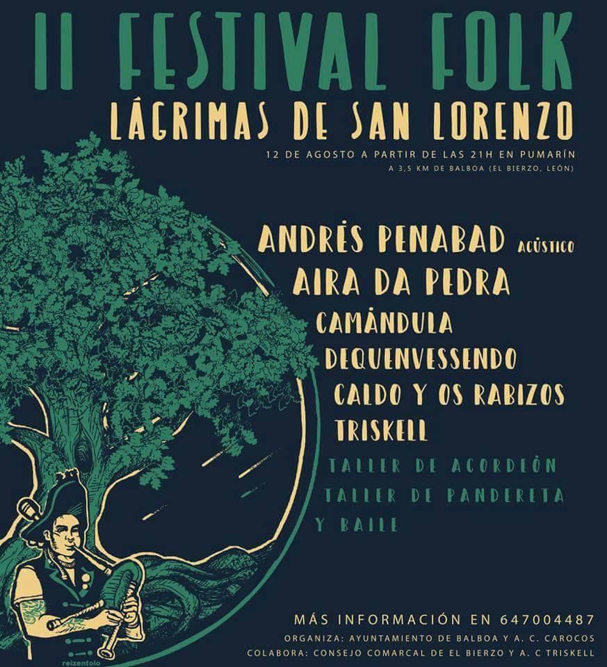 Lágrimas de San Lorenzo a ritmo de buena música en el II Festival Folk de Pumarín 1