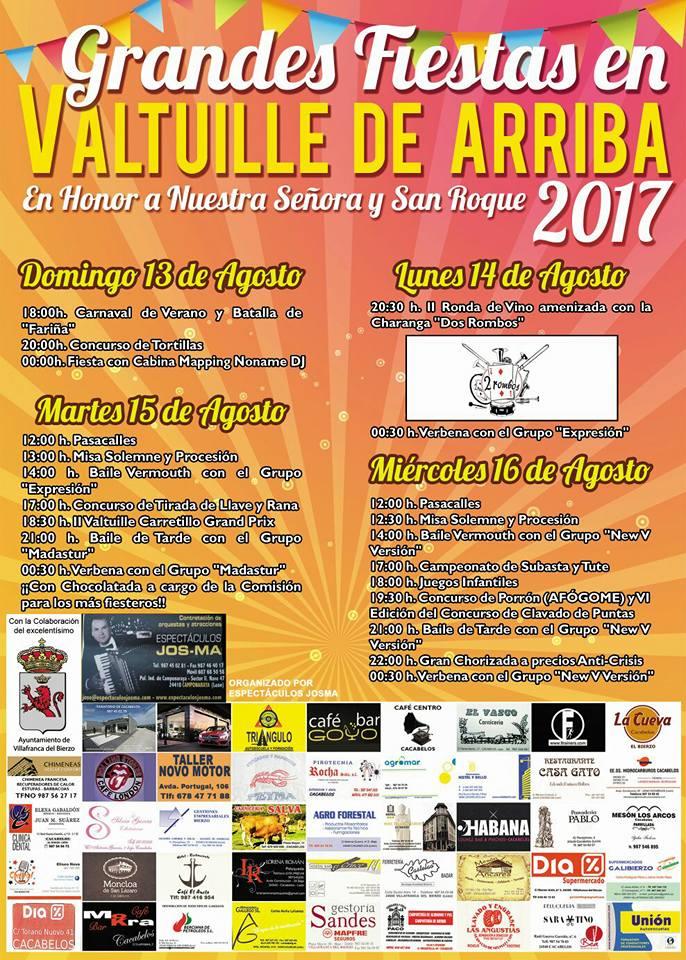 Grandes fiestas en Valtuille de Arriba. 13 al 16 de agosto 2017 1