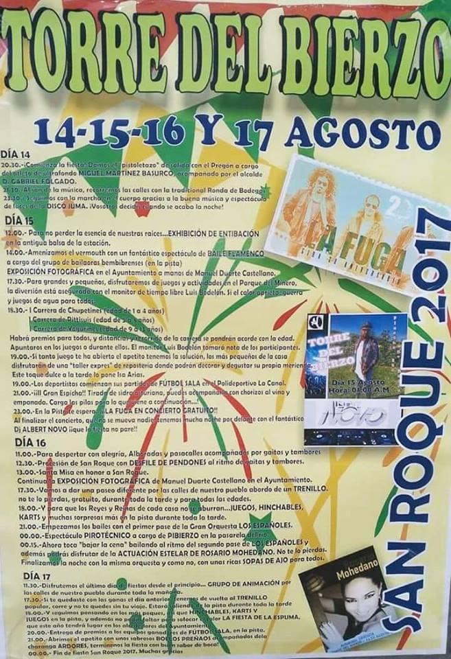 Grandes Fiestas en Torre del Bierzo San Roque 2017 5