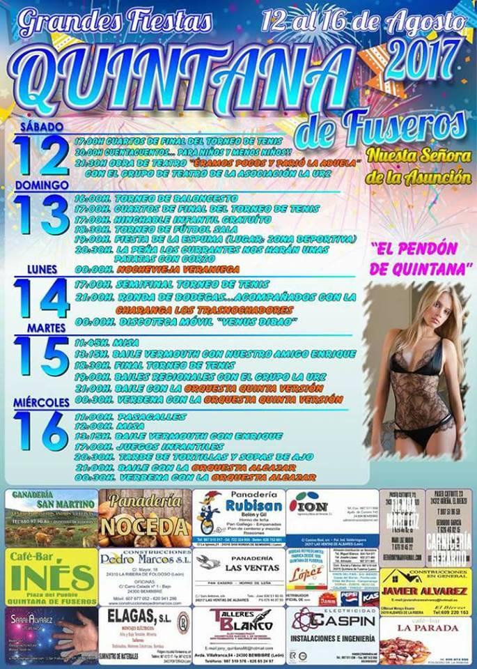 Fiestas en Quintana de Fuseros. 12, 13, 14, 15 y 16 de agosto 2017 3