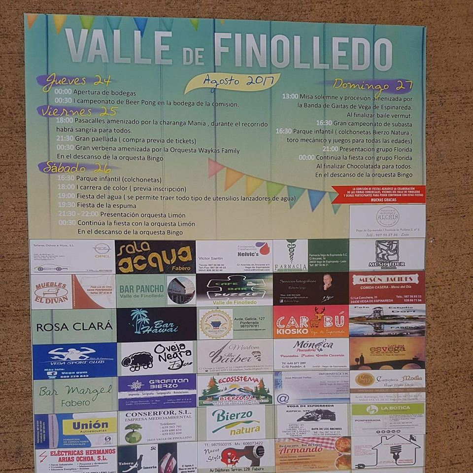 Fiestas en Valle de Finolledo. 24 al 25 agosto 2017 1